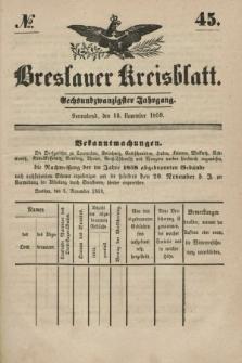 Breslauer Kreisblatt. Jg.26, № 45 (12 November 1859)