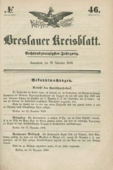 Breslauer Kreisblatt. Jg.26, № 46 (19 November 1859)