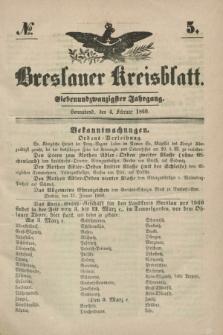 Breslauer Kreisblatt. Jg.27, № 5 (4 Februar 1860) + dod.