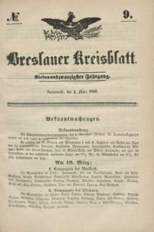 Breslauer Kreisblatt. Jg.27, № 9 (3 März 1860)