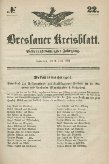 Breslauer Kreisblatt. Jg.27, № 22 (2 Juni 1860)