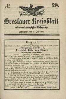 Breslauer Kreisblatt. Jg.27, № 28 (14 Juli 1860)