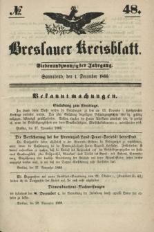 Breslauer Kreisblatt. Jg.27, № 48 (1 December 1860)
