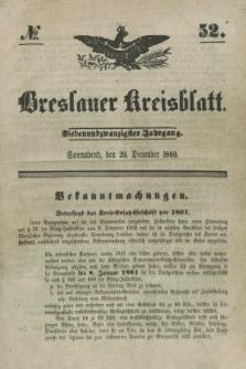 Breslauer Kreisblatt. Jg.27, № 52 (29 December 1860)