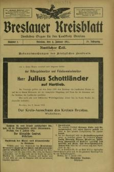Breslauer Kreisblatt : amtliches Organ für den Landkreis Breslau. Jg.79, nr 1 (4 Januar 1911) + wkładka