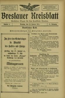 Breslauer Kreisblatt : amtliches Organ für den Landkreis Breslau. Jg.79, nr 4 (14 Januar 1911) + dod.