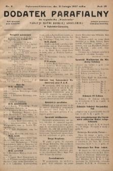 """Dodatek Parafjalny do tygodnika """"Niedziela"""" Parafji Matki Boskiej Anielskiej wDąbrowie-Górniczej. 1937, nr8"""