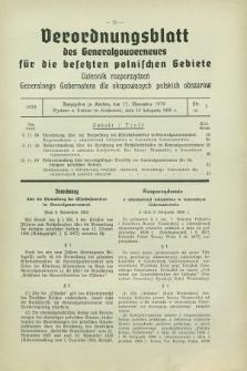 Verordnungsblatt des Generalgouverneurs für die besetzten polnischen Gebiete = Dziennik Rozporządzeń Generalnego Gubernatora dla okupowanych polskich obszarów. 1939, Nr. 5 (13 November)