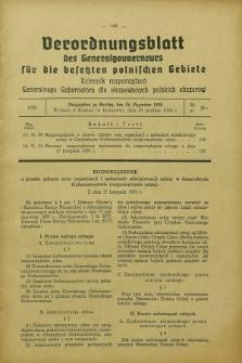 Verordnungsblatt des Generalgouverneurs für die besetzten polnischen Gebiete = Dziennik Rozporządzeń Generalnego Gubernatora dla okupowanych polskich obszarów. 1939, Nr. 11a (18 Dezember)