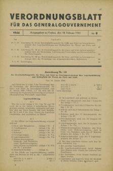 Verordnungsblatt für das Generalgouvernement. 1944, Nr. 8 (18 Februar)