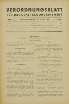 Verordnungsblatt für das Generalgouvernement. 1944, Nr. 11 (8 März)