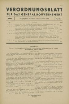 Verordnungsblatt für das Generalgouvernement. 1944, Nr. 16 (30 März)