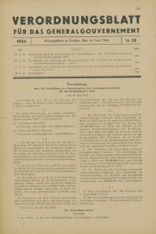 Verordnungsblatt für das Generalgouvernement. 1944, Nr. 28 (14 Juni)