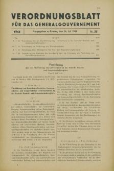 Verordnungsblatt für das Generalgouvernement. 1944, Nr. 35 (26 Juli)