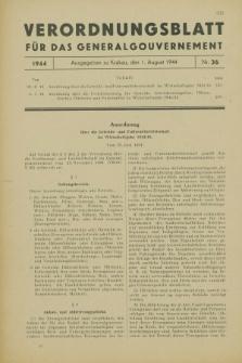 Verordnungsblatt für das Generalgouvernement. 1944, Nr. 36 (1 August)