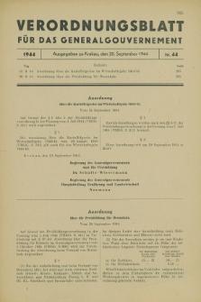 Verordnungsblatt für das Generalgouvernement. 1944, Nr. 44 (20 September)