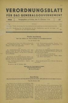 Verordnungsblatt für das Generalgouvernement. 1944, Nr. 47 (31 Oktober)
