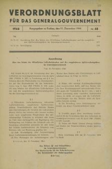 Verordnungsblatt für das Generalgouvernement. 1944, Nr. 48 (11 Dezember)