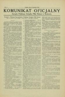 Komunikat Oficjalny Zarządu Polskiego Związku Piłki Nożnej w Krakowie. 1925, nr 3 (22 kwietnia)
