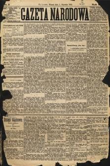 Gazeta Narodowa. 1884, nr1