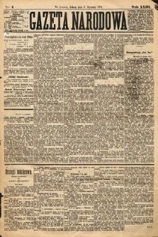 Gazeta Narodowa. 1884, nr4