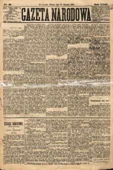 Gazeta Narodowa. 1884, nr18