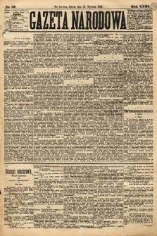 Gazeta Narodowa. 1884, nr22