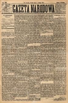 Gazeta Narodowa. 1884, nr29
