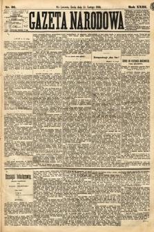 Gazeta Narodowa. 1884, nr36