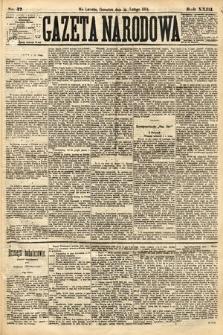 Gazeta Narodowa. 1884, nr37