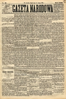 Gazeta Narodowa. 1884, nr38