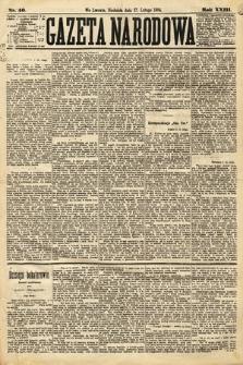 Gazeta Narodowa. 1884, nr40