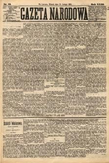 Gazeta Narodowa. 1884, nr41