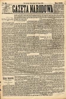 Gazeta Narodowa. 1884, nr45