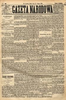 Gazeta Narodowa. 1884, nr48