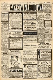 Gazeta Narodowa. 1884, nr52