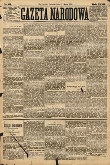 Gazeta Narodowa. 1884, nr61