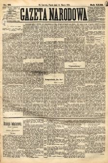 Gazeta Narodowa. 1884, nr62
