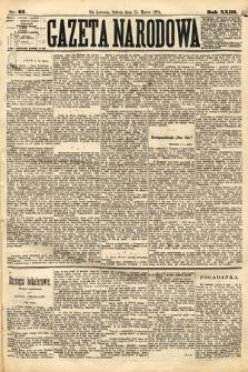Gazeta Narodowa. 1884, nr63