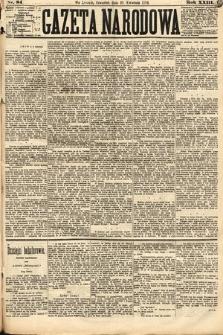 Gazeta Narodowa. 1884, nr84