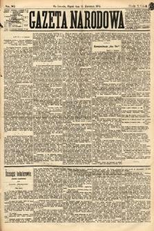 Gazeta Narodowa. 1884, nr85