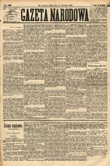 Gazeta Narodowa. 1884, nr86