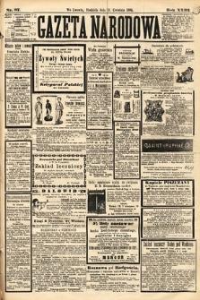 Gazeta Narodowa. 1884, nr87