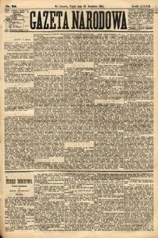 Gazeta Narodowa. 1884, nr90