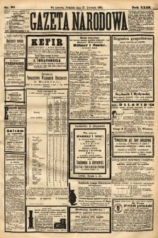 Gazeta Narodowa. 1884, nr98