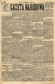 Gazeta Narodowa. 1884, nr108
