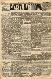 Gazeta Narodowa. 1884, nr115