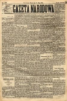 Gazeta Narodowa. 1884, nr117