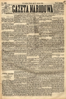 Gazeta Narodowa. 1884, nr138