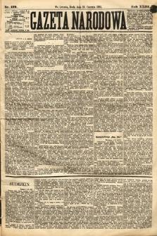Gazeta Narodowa. 1884, nr139